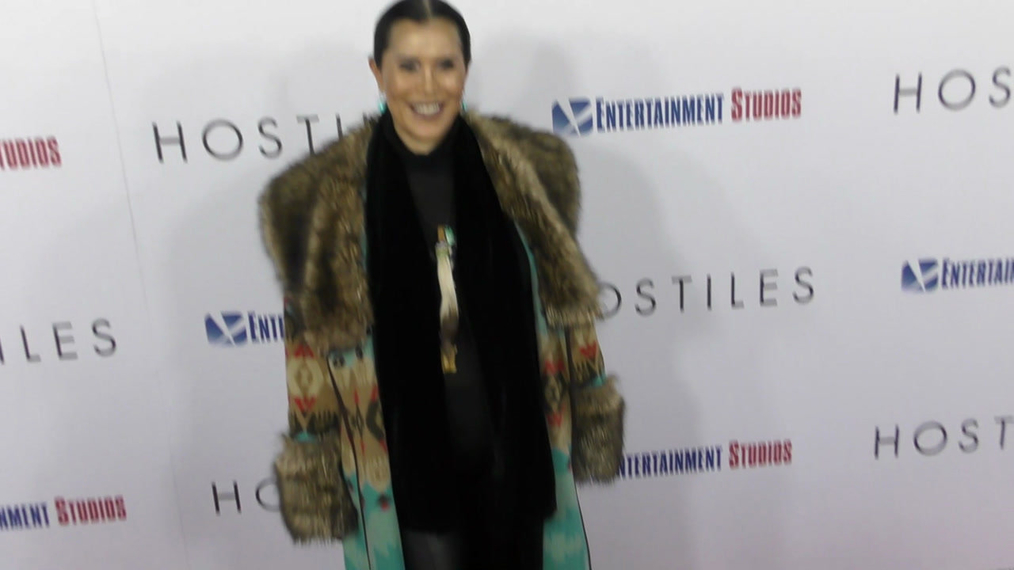 Janelle Ramiro at the Hostiles Premiere at Samuel Goldwyn Theater in Beverly Hills.mp4