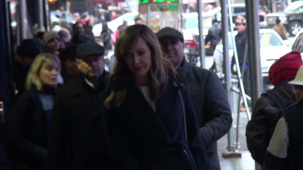 Allison Janney leaves Good Morning America in New York City.mp4