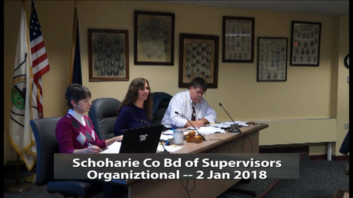 Schoharie Co Bd of Supervisors -- Organizational -- 2 Jan 2018