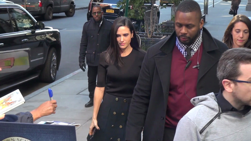 Jennifer Connelly outside the BUILD Series in New York.mp4