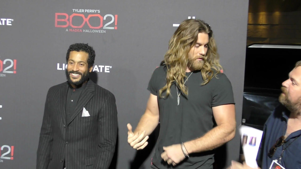 Brock O'Hurn at the Tyler Perry's Boo 2! A Madea Halloween Premiere at Regal LA Live Theatre in Los Angeles.mp4