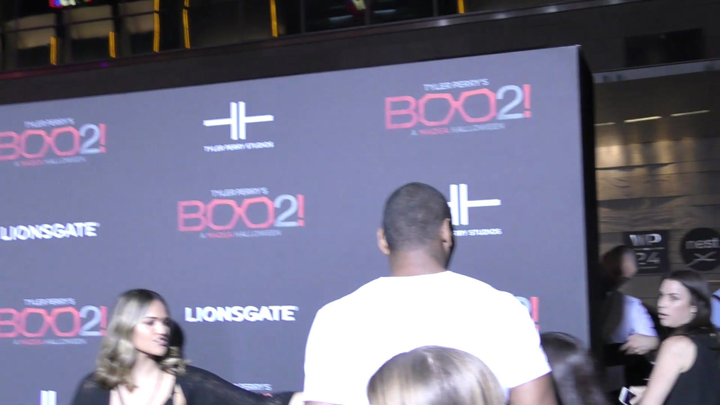 Metta World Peace at the Tyler Perry's Boo 2! A Madea Halloween Premiere at Regal LA Live Theatre in Los Angeles.mp4