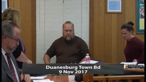 Duanesburg Town Bd -- 9 Nov 2017