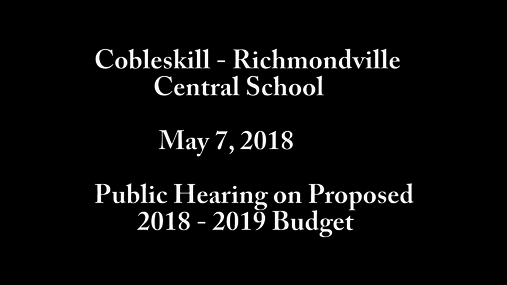 Cobleskill-Richmondville bd of Ed -- 7 May 2018