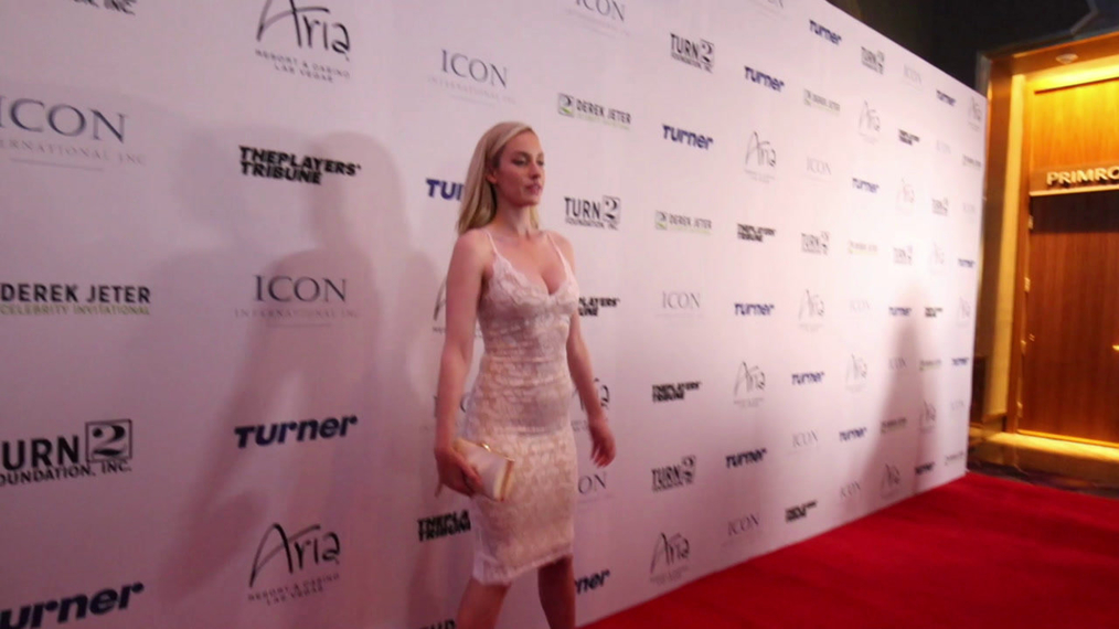 Paige Spiranac attends the 2018 Derek Jeter Celebrity Invitational Gala at the Aria Resort & Casino in Las Vegas.mp4