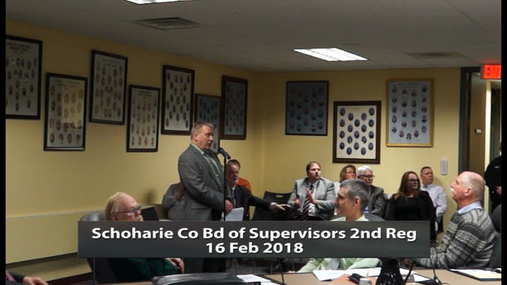 Schoharie Co Bd of Supervisors 2nd Reg -- 16 Feb 2018