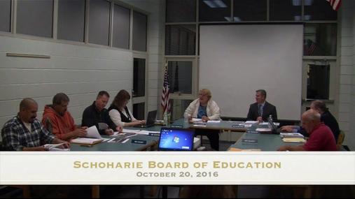 Schoharie Bd of Ed--Oct 20 2016