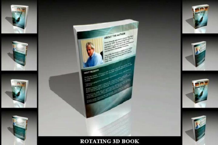 Create a rotating 3D book animation for your book