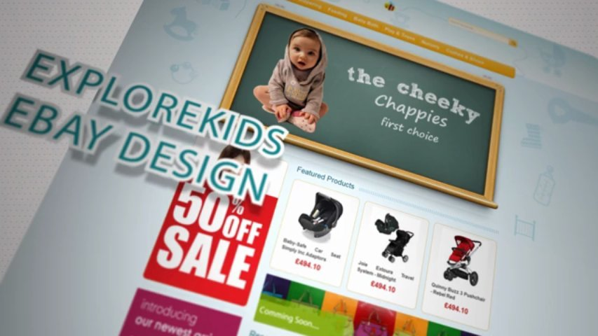 Create a kids / baby ebay store template