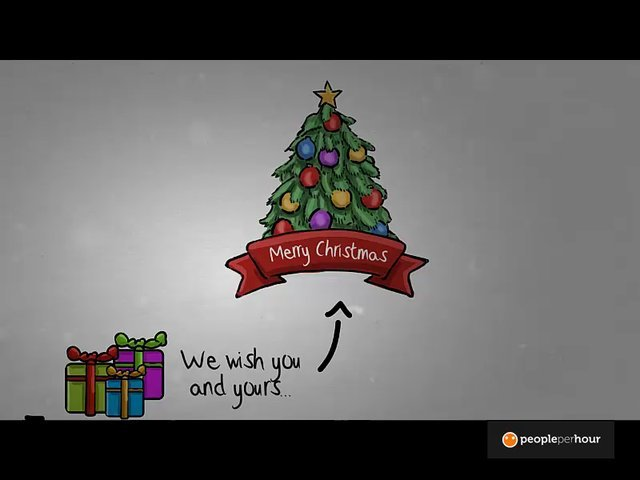 Make you this visual compelling whiteboard Christmas message.