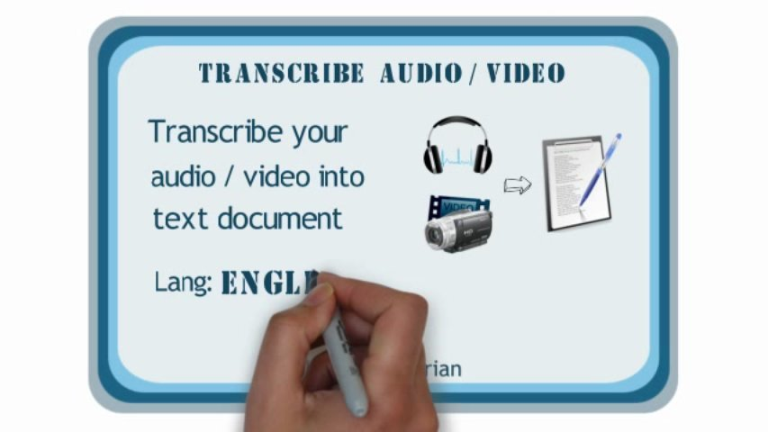Transcribe audio or video in English or Urdu