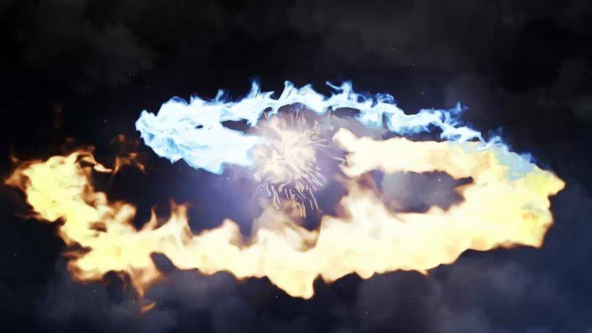 Make you fire dragon or phoenix logo reveal in full HD