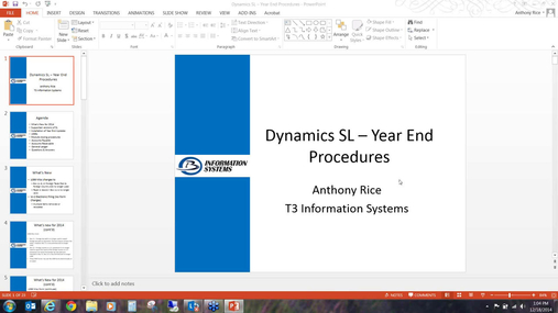 Year End Close Best Practices for Dynamics SL 2014