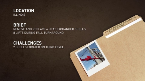 Remove/Replace Heat Exchanger Shells in Petroleum Refinery