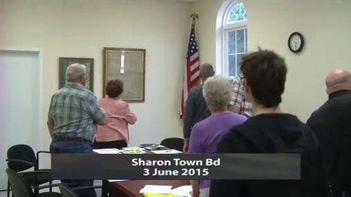Sharon Town Bd 3 June 2015