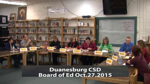 Duanesburg CSD Board of Ed Oct.27.2015 Pt.1
