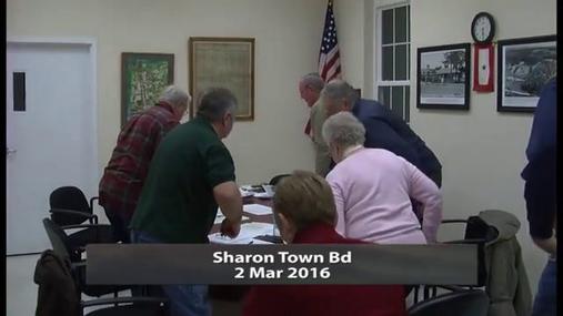 Sharon Town Bd -- 2 Mar 2016