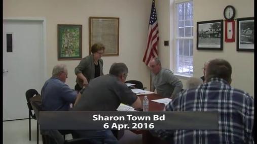 Sharon Town Bd -- 6 Apr 2016