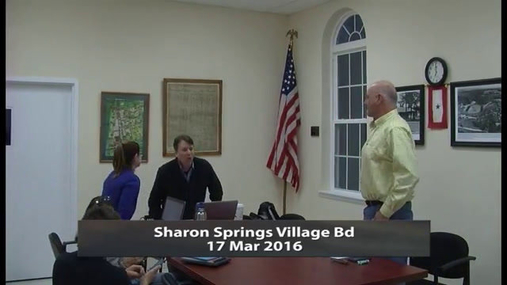 Sharon Springs Village -- Mar 17 2016