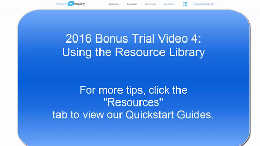NexGen Tips & Tricks:  Using the Resource Library