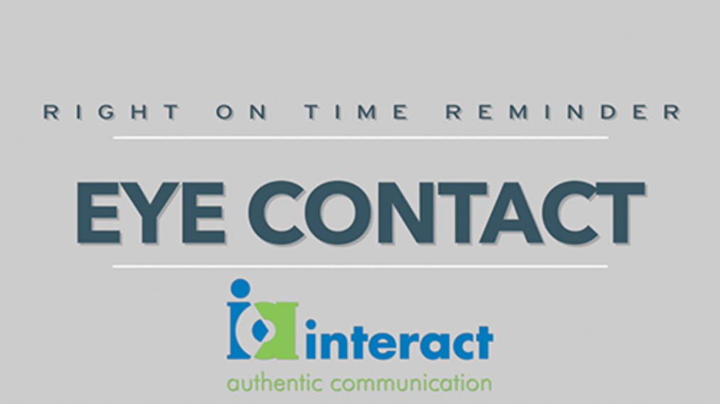 Right on time Reminders - Eye Contact
