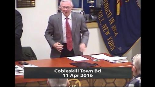 Cobleskill Town Bd -- 11 Apr 2016