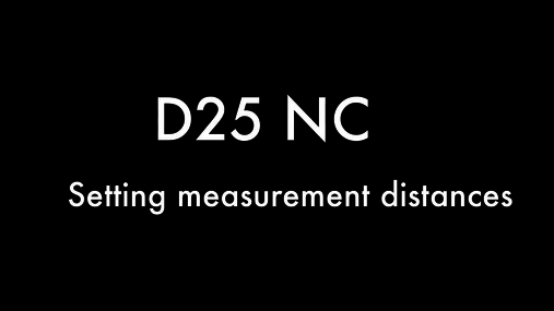 D25 NC- setting distances.mov