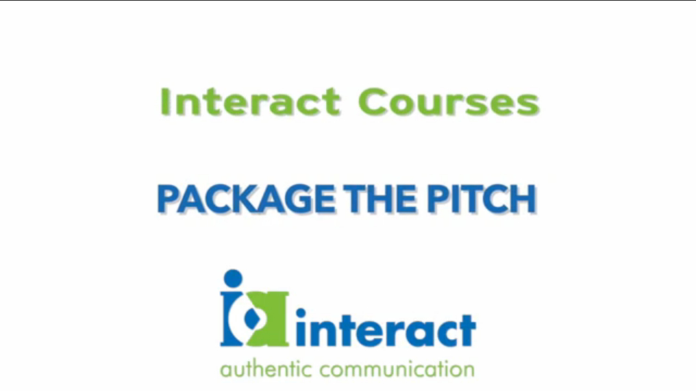 Interact Courses: Package the Pitch