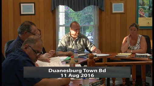 Duanesburg Town Bd -- 11 Aug 2016