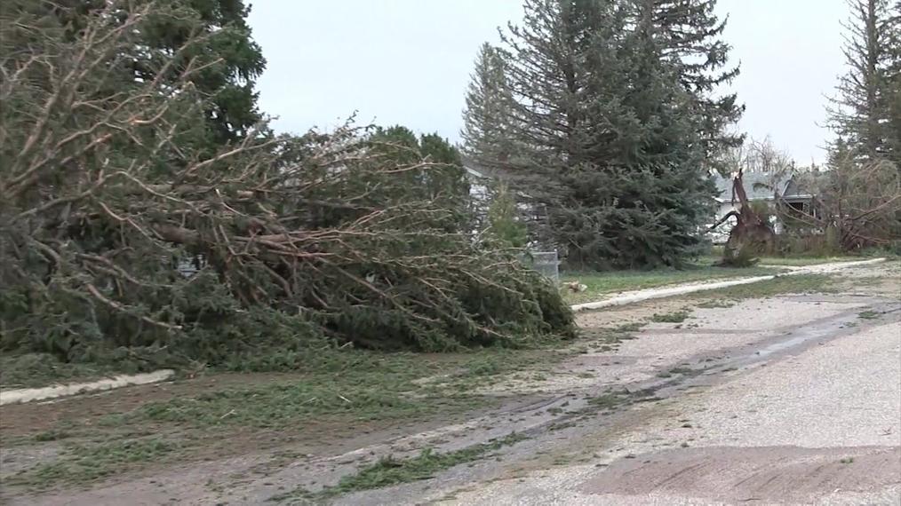 Pine Bluffs Hail Storm