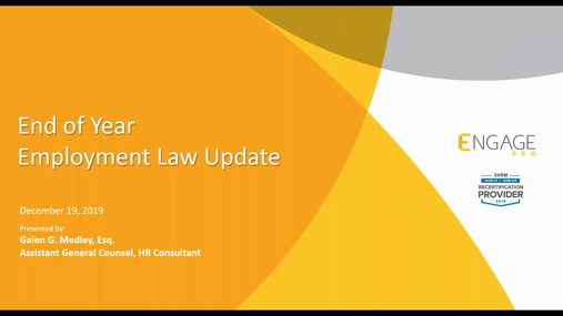 December 2019 HR Webinar - End of Year Employment Law Update