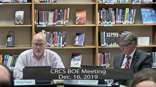 CRCS BOE -- Dec. 16, 2019