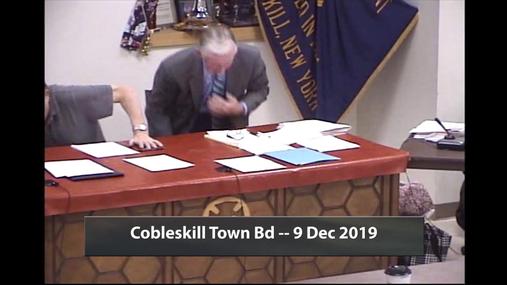 Cobleskill Town Bd -- 9 Dec 2019