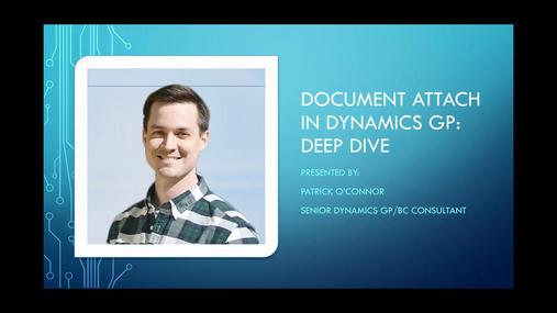Dynamics GP DocAttach Deep Dive