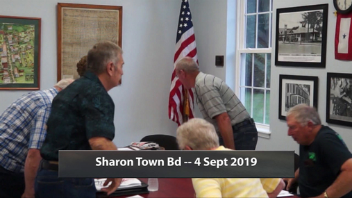 Sharon Town Bd -- 4 Sept 2019