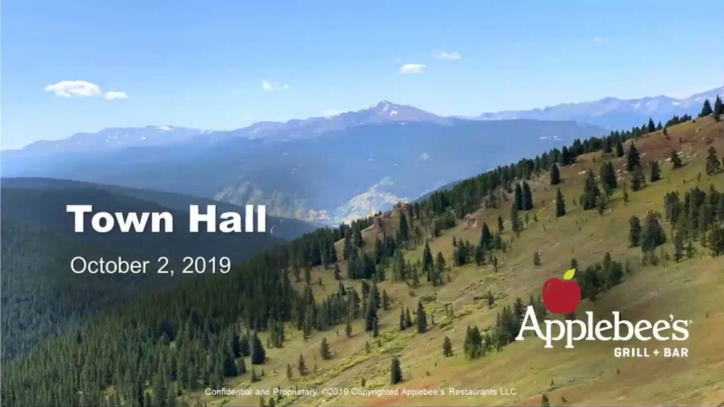 Applebee's Town Hall - October 2, 2019