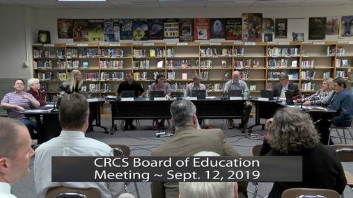 CRCS BOE Sept. 12, 2019