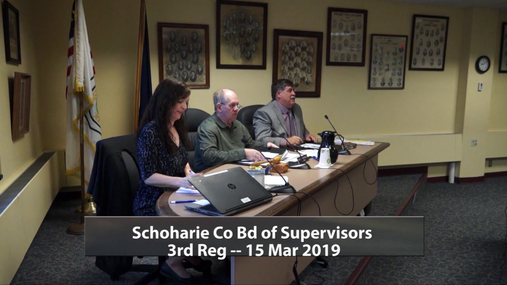 Schoharie Co Bd of Supervisors -- Reg 3rd -- 15 Mar 2019