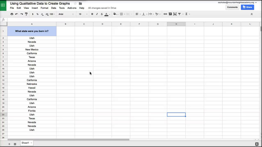 Intro Stats - Graphing Qualitative Data in Google Sheets.mp4