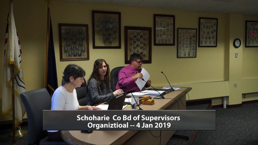 Schoharie Co Bd of Supervisors Organizational -- 4 Jan 2019