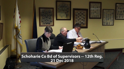 Schoharie Co Bd of Supervisors -- 12th Reg.--21 Dec 2018