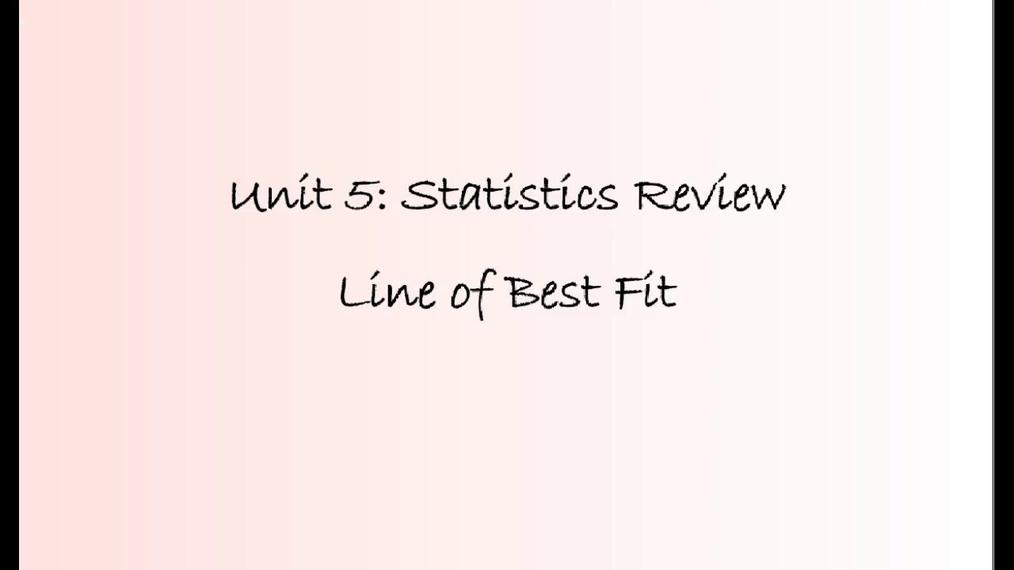 Math 8 Unit 5 Review Line of Best Fit.mp4