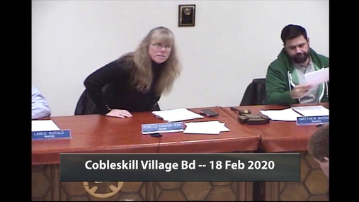 Cobleskill Village Bd -- 18 Feb 2020