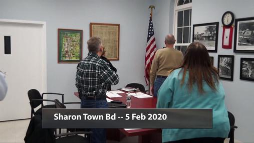 Sharon Town Bd -- 5 Feb 2020