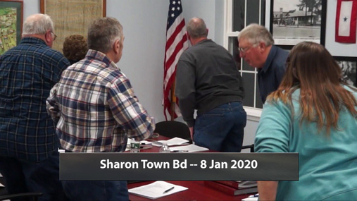 Sharon Town Bd -- 8 Jan 2020