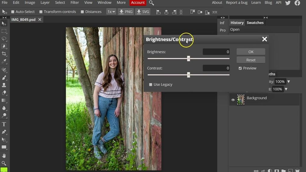 Photopea - Brightness and Contrast Demonstration.mp4