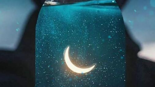 people, moon, sky