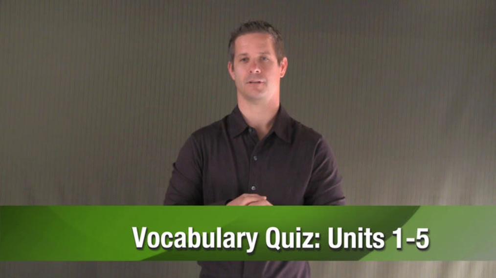 ASL 1 Q1 W10 Cumulative Review Quiz - Vocabulary