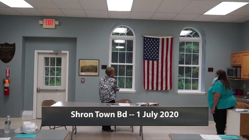 Sharon Town Bd -- 1 July 2020