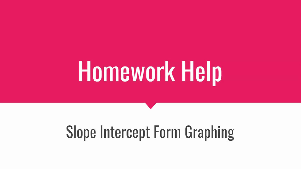 HH Slope Intercept Form Graphing.mp4